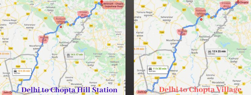 Delhi to Chopta